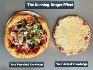 Dunning-Kruger Effect pizza