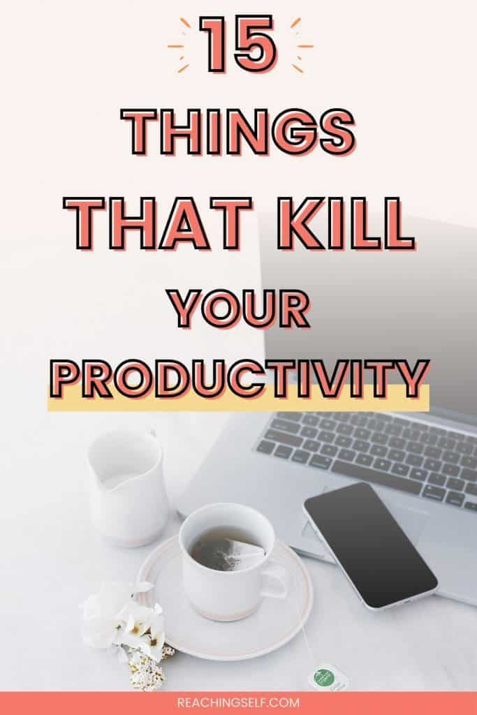 Find out ways you might be reducing your productivity and how you can prevent these mistakes